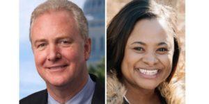 Senator Van Hollen and Teri Weathers