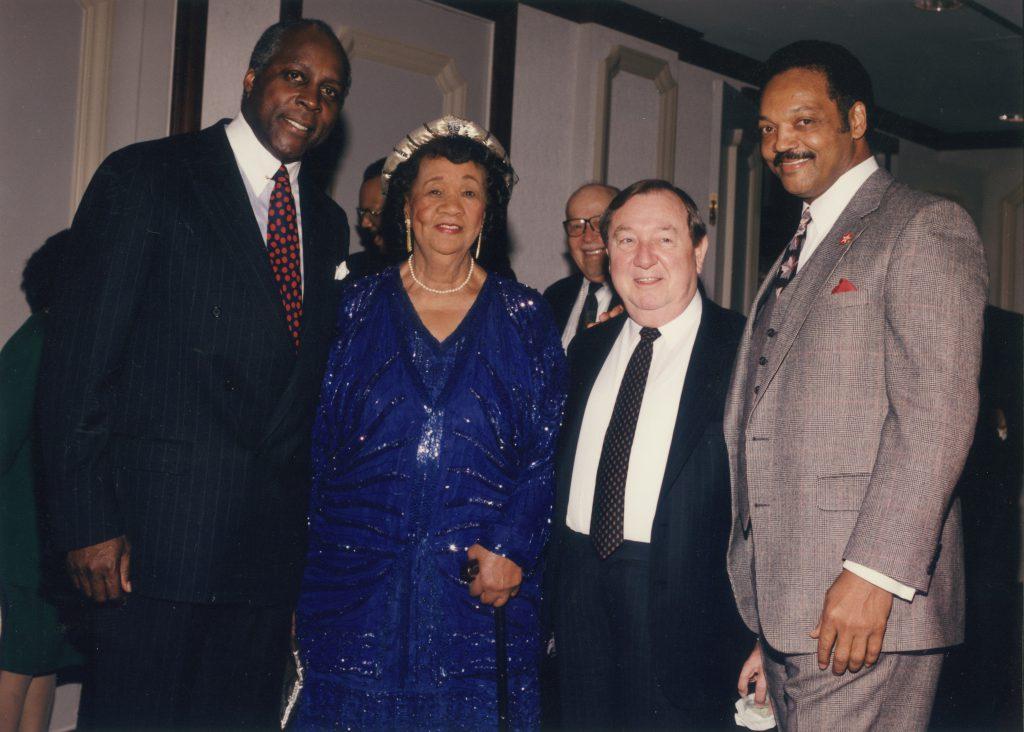 Vernon Jordan, Dorothy Height, Joe Allbritton, and Rev. Jesse Jackson at a Joint Center event.